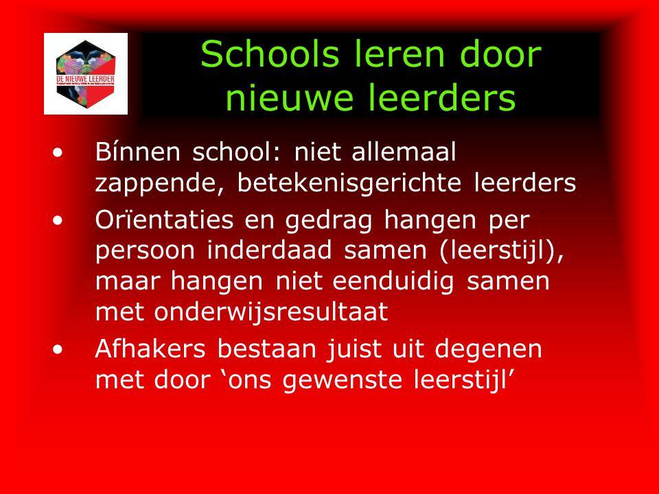 Schools leren door nieuwe leerders