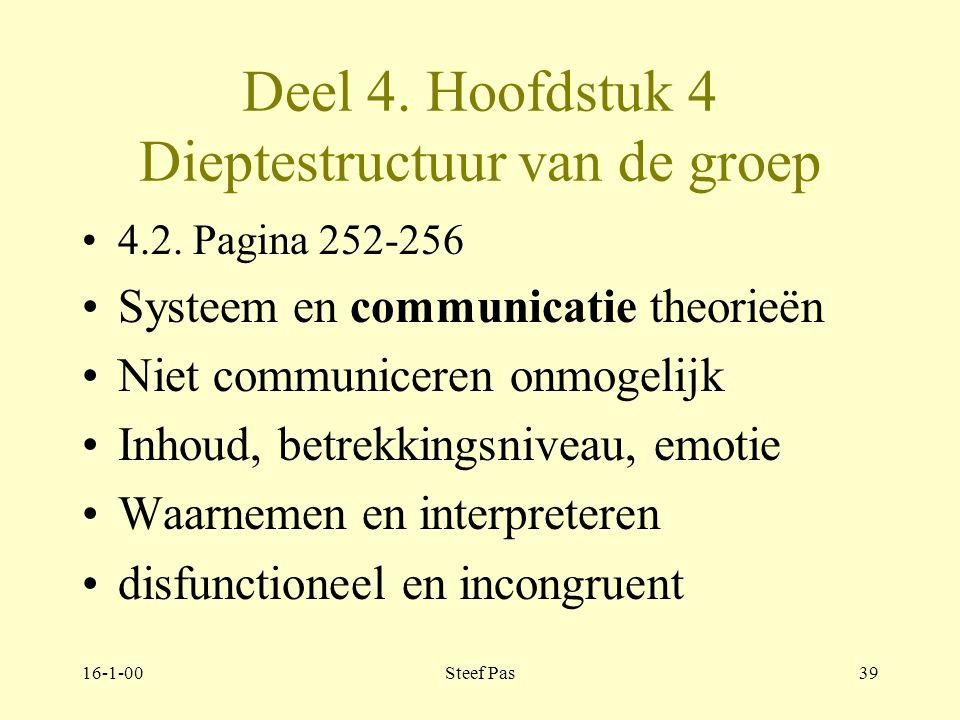 Deel 4. Hoofdstuk 4 Dieptestructuur van de groep