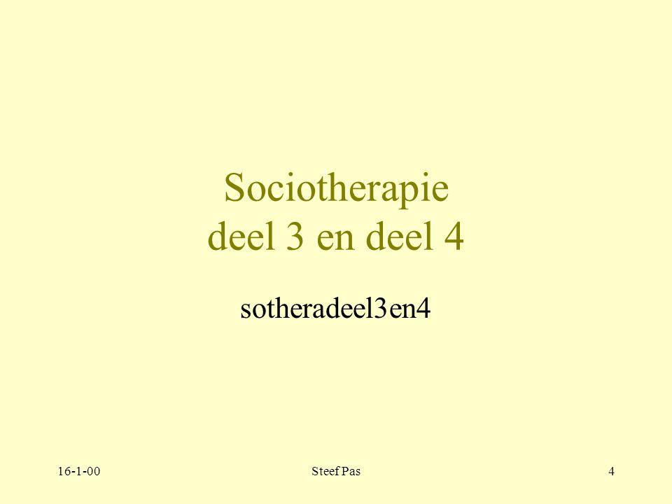 Sociotherapie deel 3 en deel 4