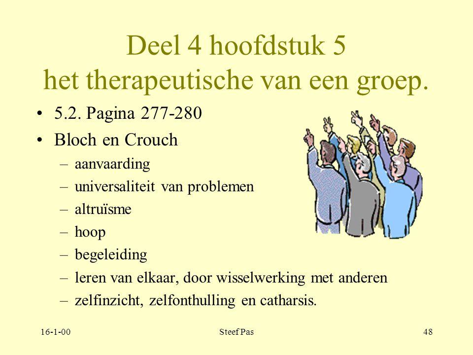 Deel 4 hoofdstuk 5 het therapeutische van een groep.