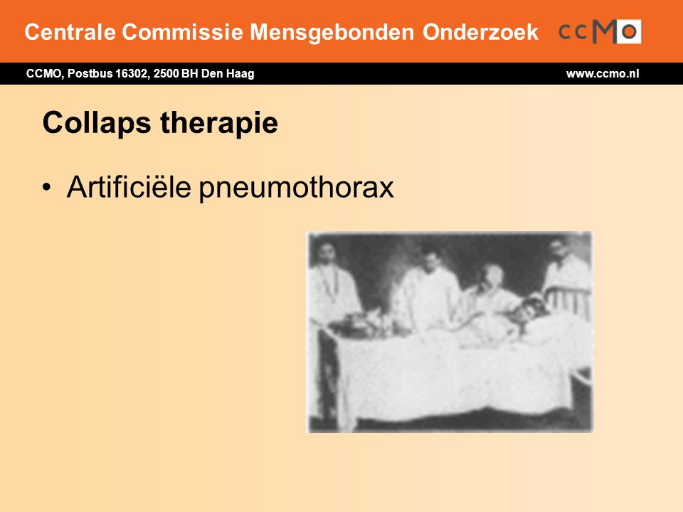 Collaps therapie Artificiële pneumothorax