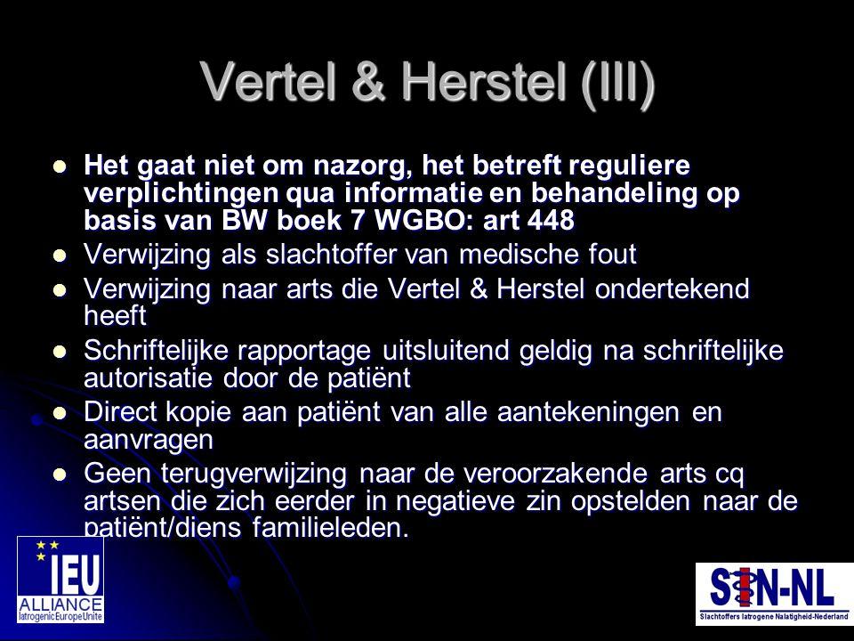 Vertel & Herstel (III)