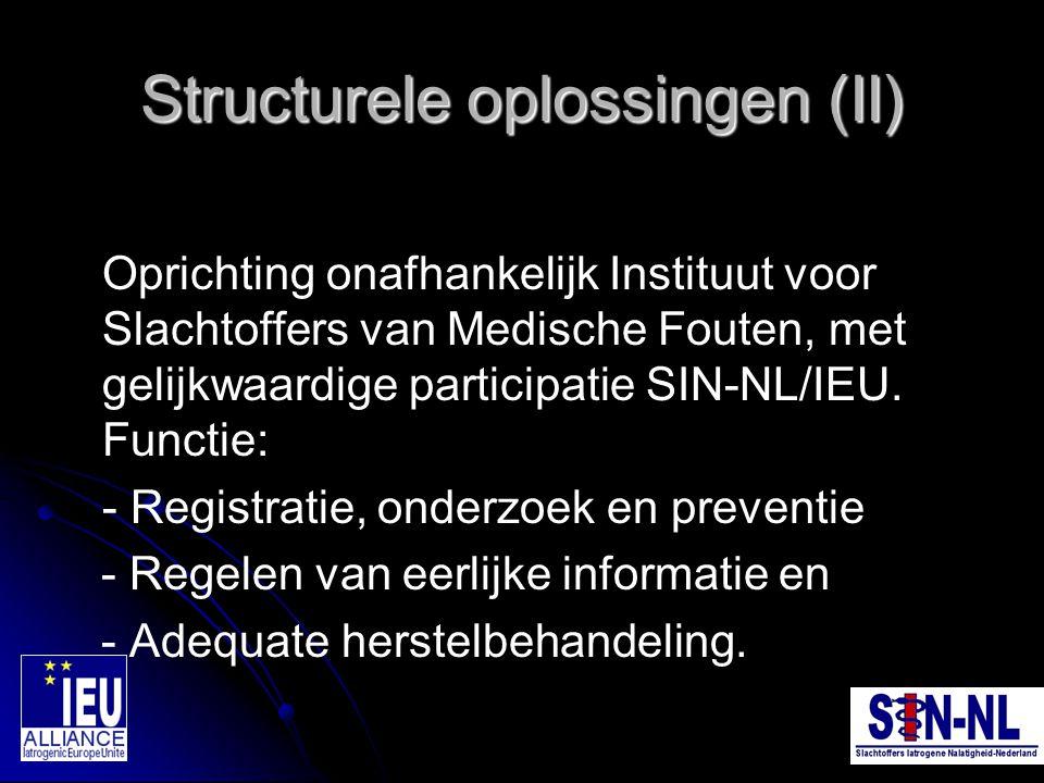 Structurele oplossingen (II)