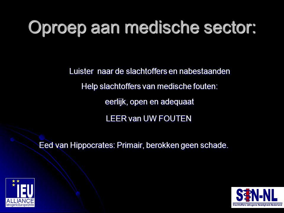 Oproep aan medische sector: