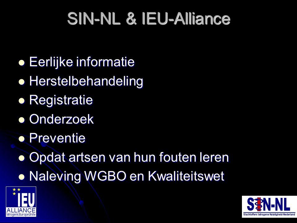 SIN-NL & IEU-Alliance Eerlijke informatie Herstelbehandeling