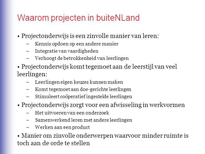 Waarom projecten in buiteNLand