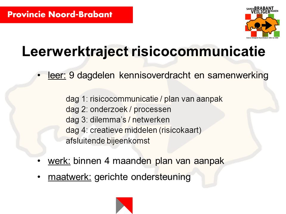 Leerwerktraject risicocommunicatie