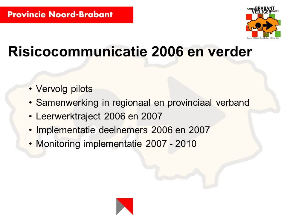 Risicocommunicatie 2006 en verder