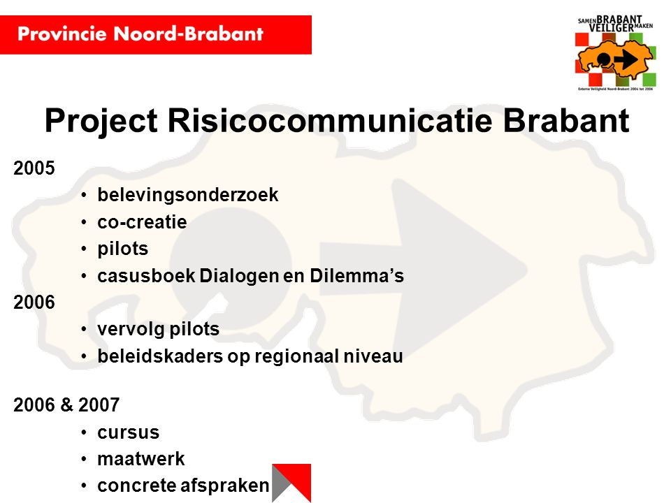Project Risicocommunicatie Brabant