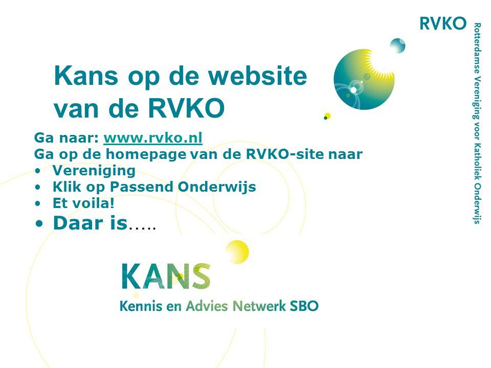Kans op de website van de RVKO