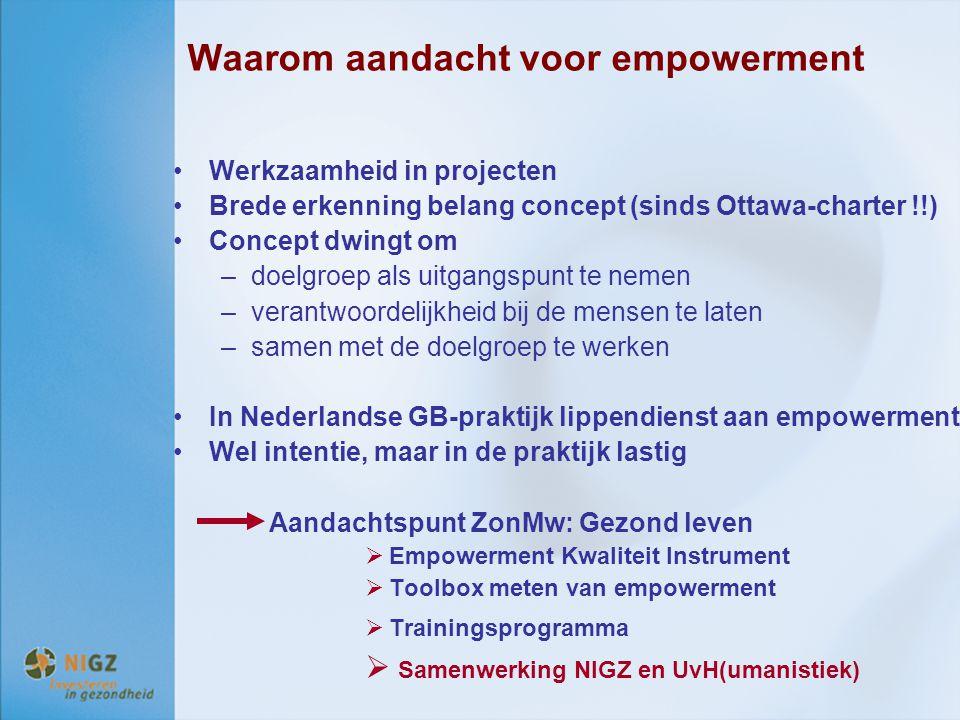 Waarom aandacht voor empowerment