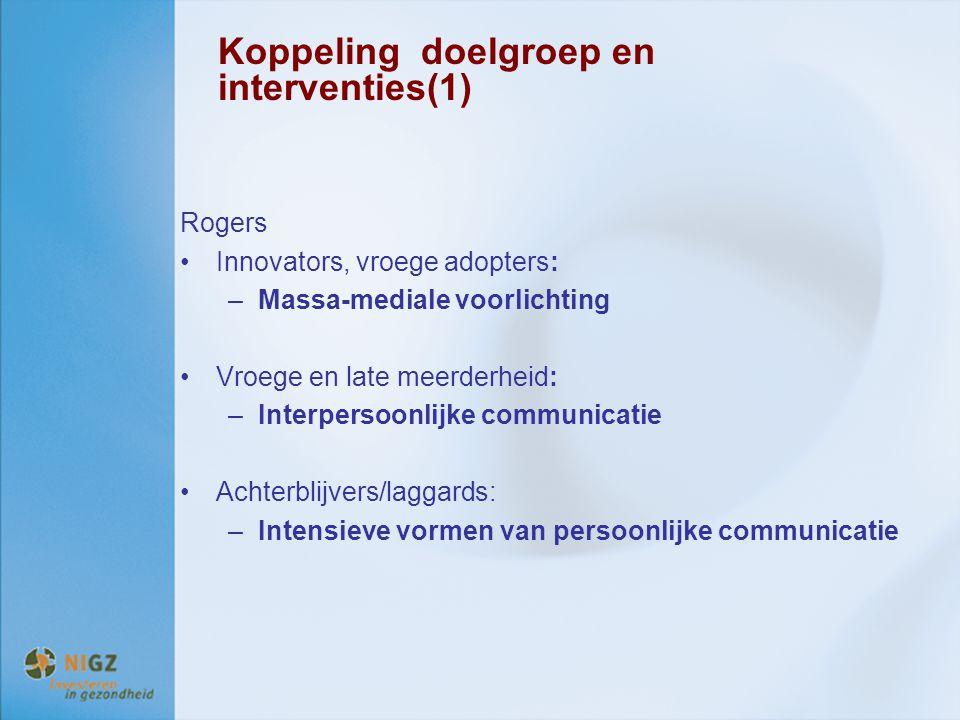 Koppeling doelgroep en interventies(1)