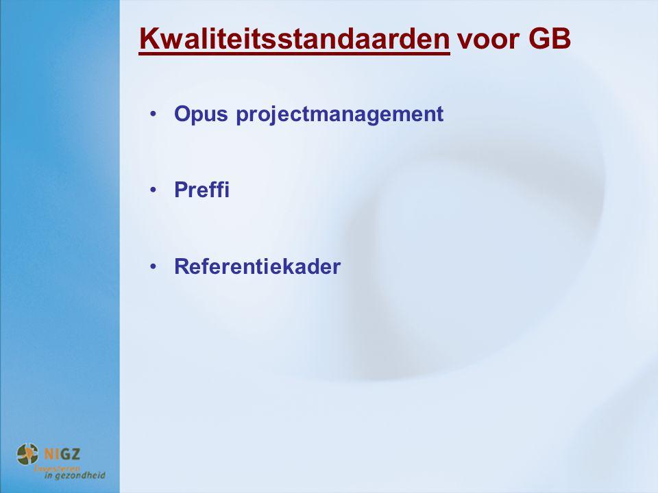 Kwaliteitsstandaarden voor GB