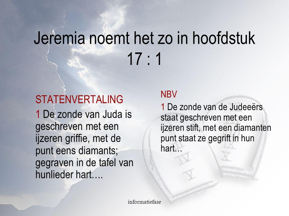 Jeremia noemt het zo in hoofdstuk 17 : 1