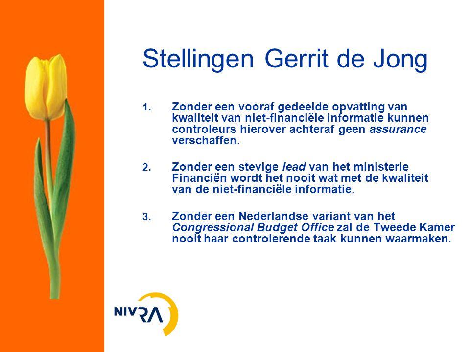 Stellingen Gerrit de Jong