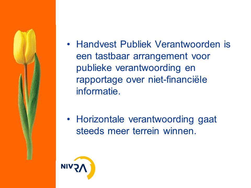 Handvest Publiek Verantwoorden is een tastbaar arrangement voor publieke verantwoording en rapportage over niet-financiële informatie.