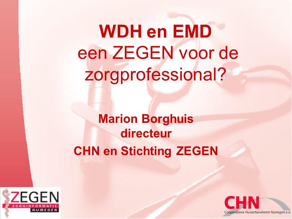WDH en EMD een ZEGEN voor de zorgprofessional