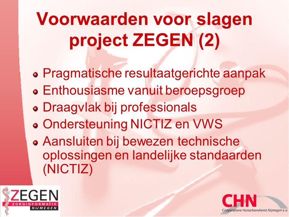 Voorwaarden voor slagen project ZEGEN (2)