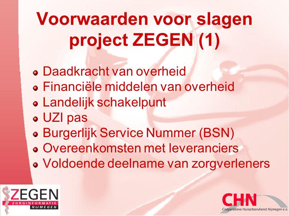 Voorwaarden voor slagen project ZEGEN (1)