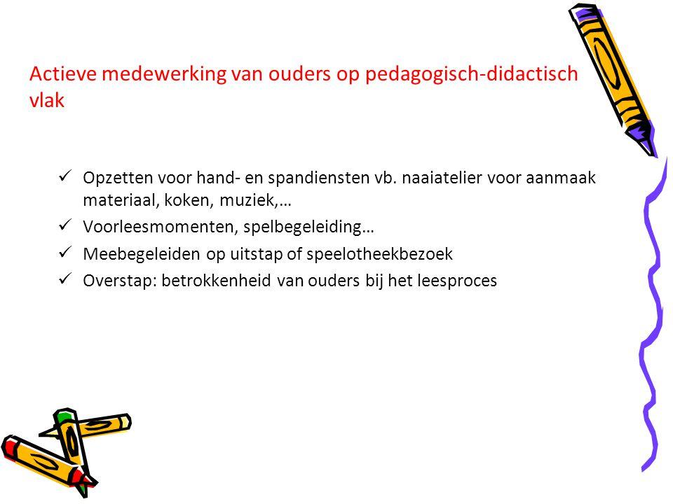 Actieve medewerking van ouders op pedagogisch-didactisch vlak