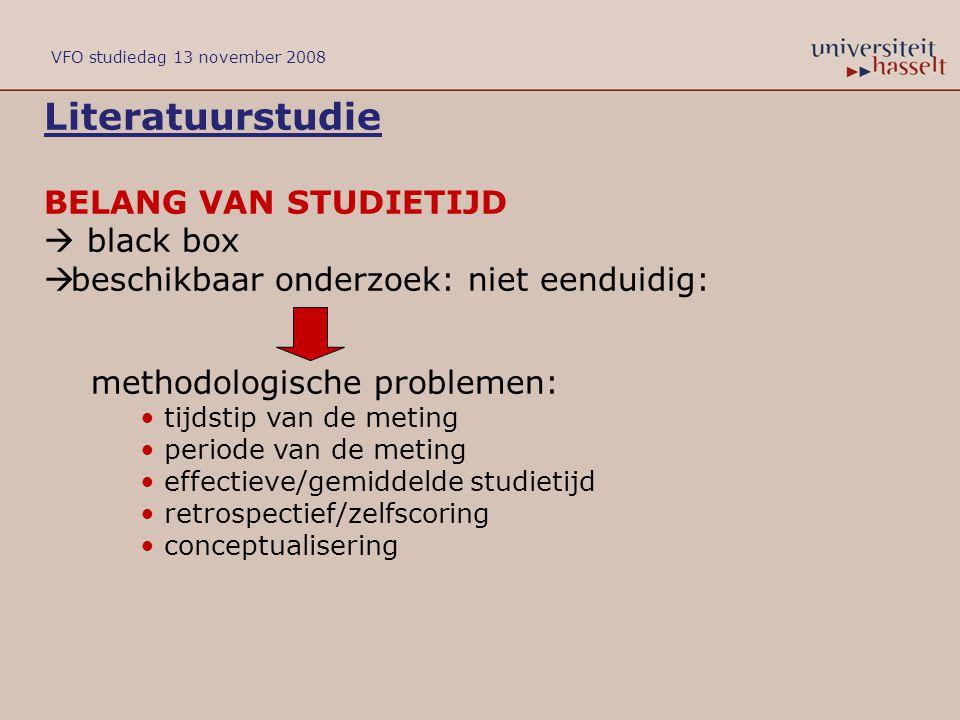 Literatuurstudie BELANG VAN STUDIETIJD  black box