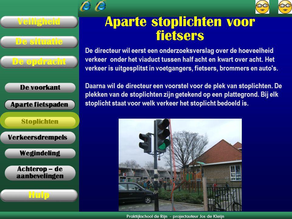 Aparte stoplichten voor fietsers