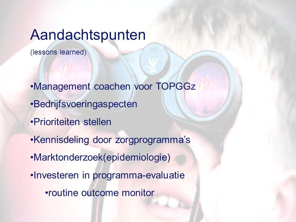 Aandachtspunten Management coachen voor TOPGGz Bedrijfsvoeringaspecten