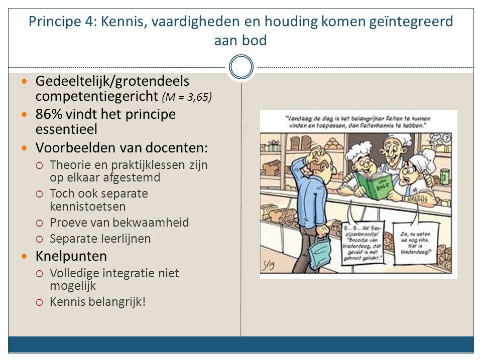 Principe 4: Kennis, vaardigheden en houding komen geïntegreerd aan bod