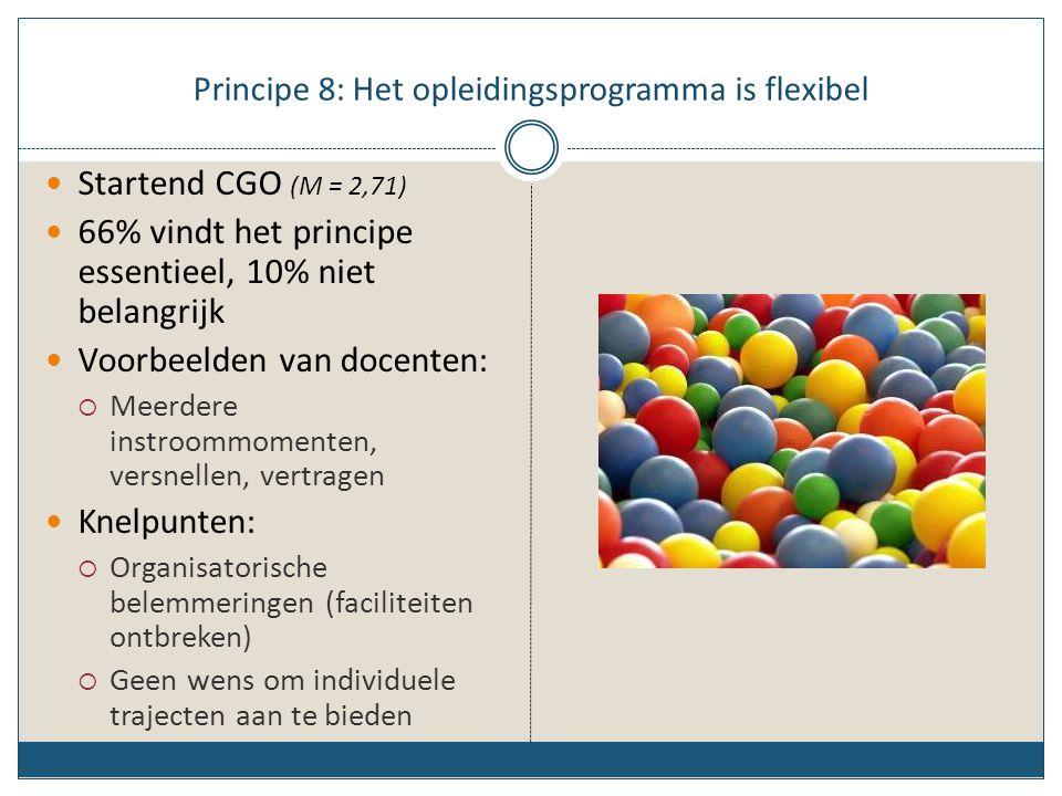 Principe 8: Het opleidingsprogramma is flexibel