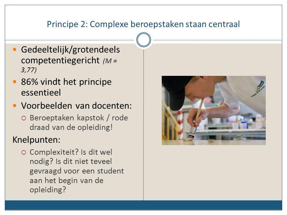Principe 2: Complexe beroepstaken staan centraal