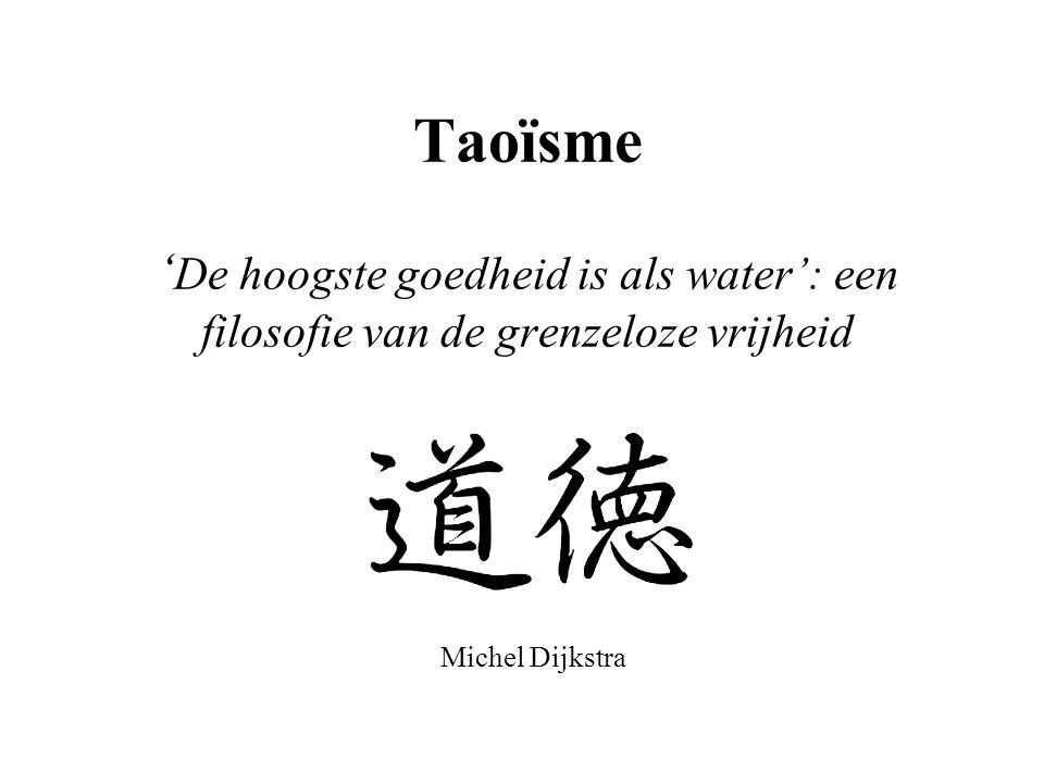 Taoïsme 'De hoogste goedheid is als water': een filosofie van de grenzeloze vrijheid