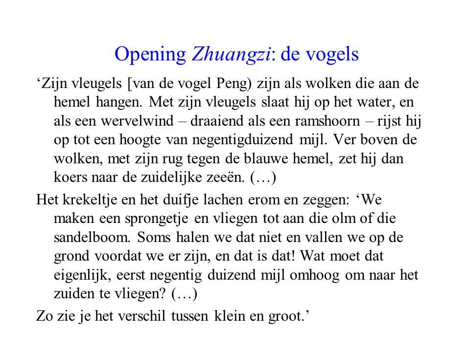 Opening Zhuangzi: de vogels