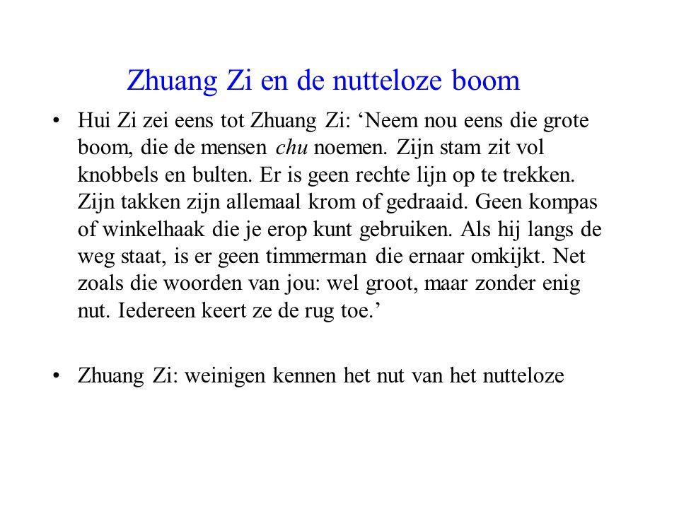 Zhuang Zi en de nutteloze boom