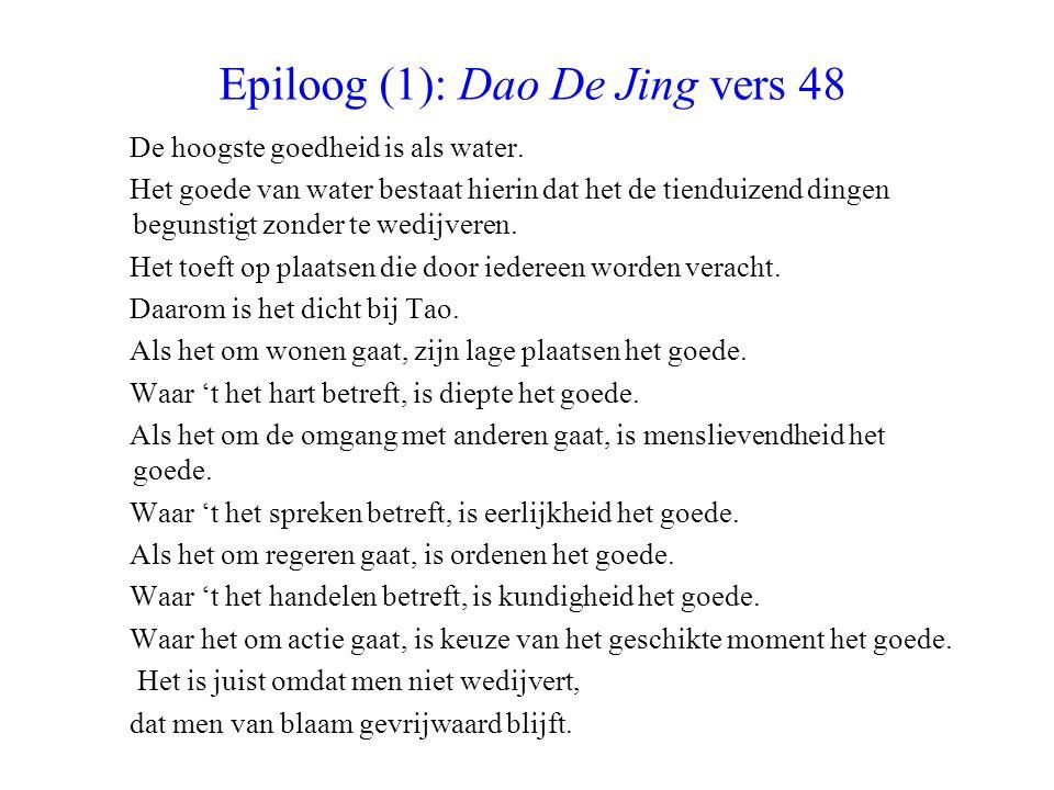 Epiloog (1): Dao De Jing vers 48
