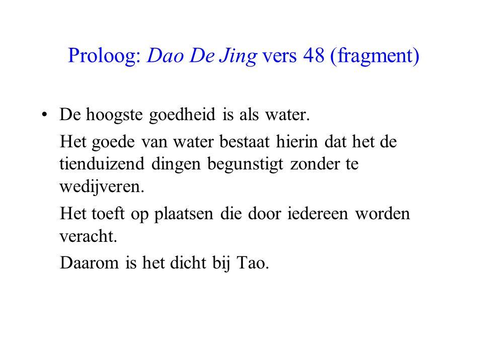 Proloog: Dao De Jing vers 48 (fragment)