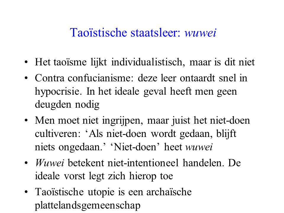 Taoïstische staatsleer: wuwei