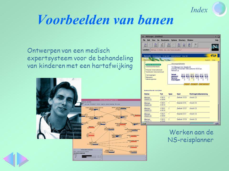 Voorbeelden van banen Ontwerpen van een medisch expertsysteem voor de behandeling van kinderen met een hartafwijking.