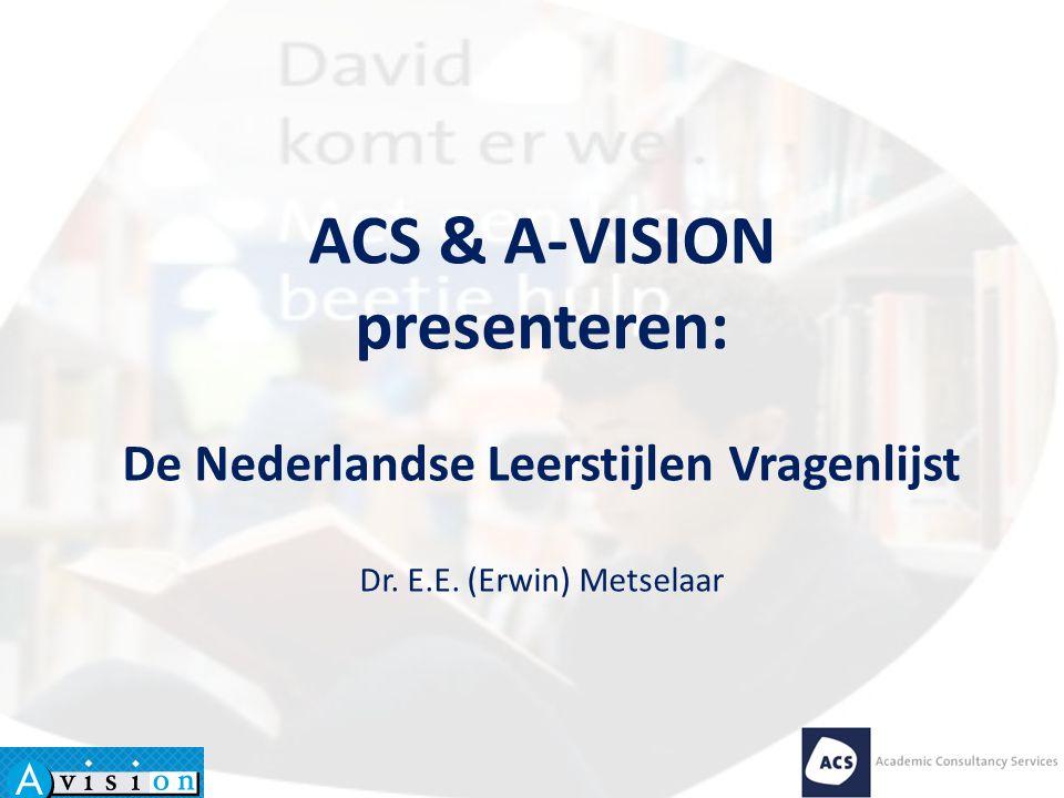 De Nederlandse Leerstijlen Vragenlijst