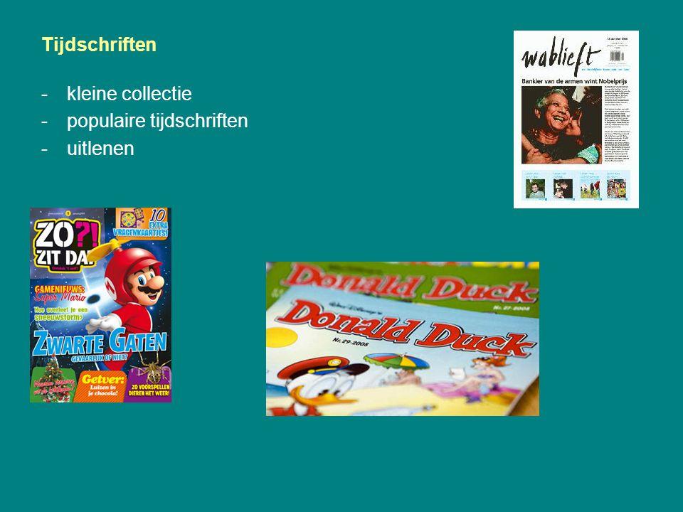 Tijdschriften kleine collectie populaire tijdschriften uitlenen