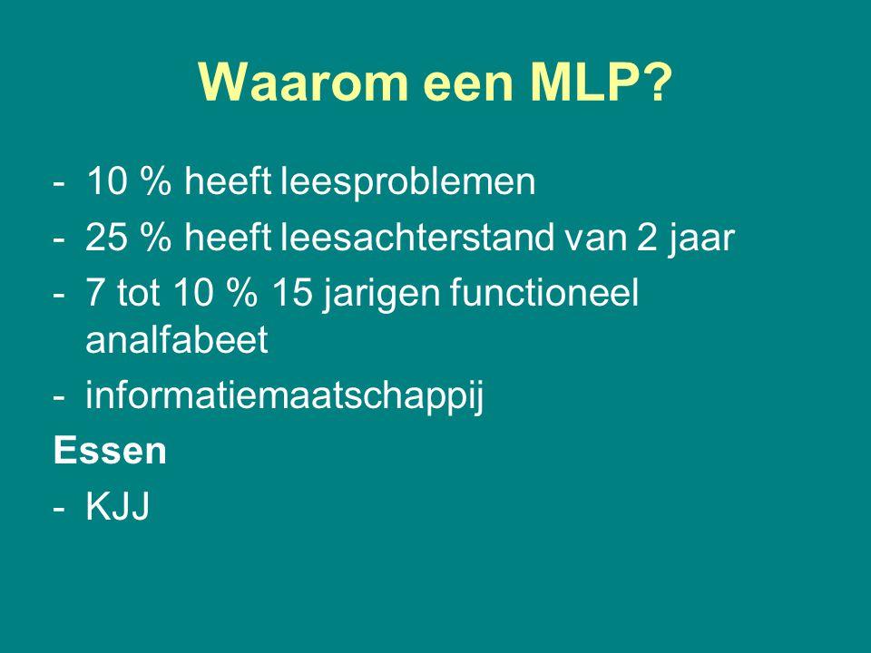 Waarom een MLP 10 % heeft leesproblemen