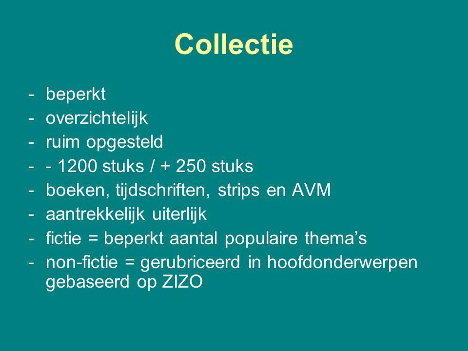 Collectie beperkt overzichtelijk ruim opgesteld