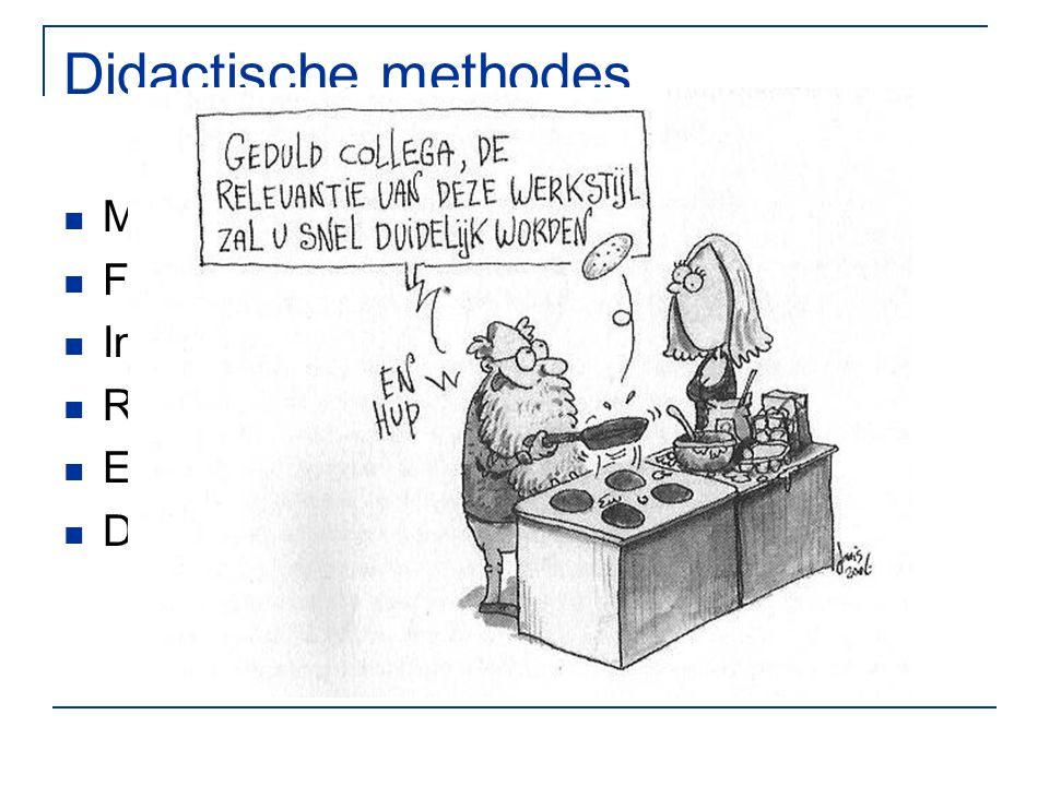 Didactische methodes Model Feedback Instructie Reflectie Ervaren Delen
