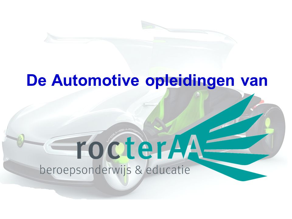 De Automotive opleidingen van
