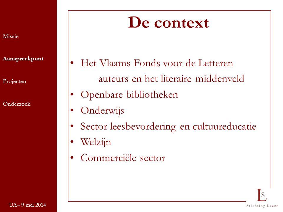 De context Het Vlaams Fonds voor de Letteren