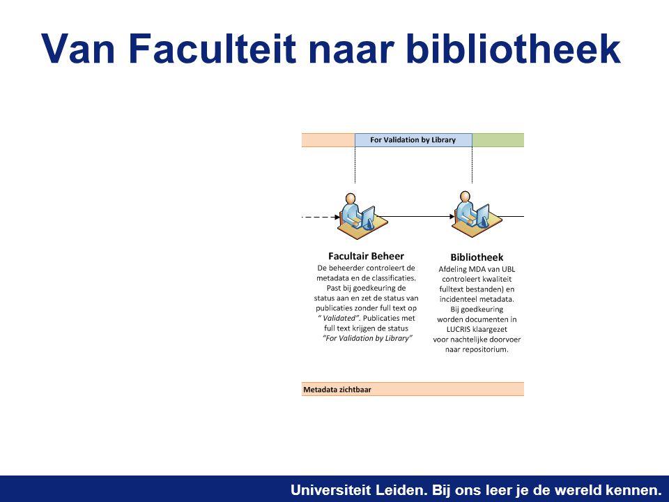 Van Faculteit naar bibliotheek