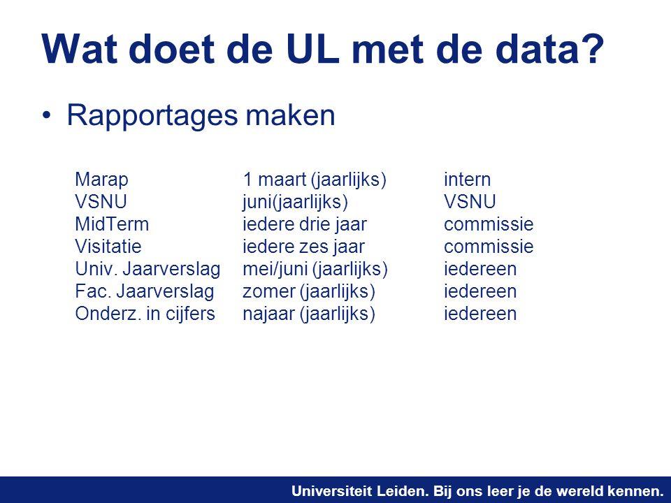 Wat doet de UL met de data