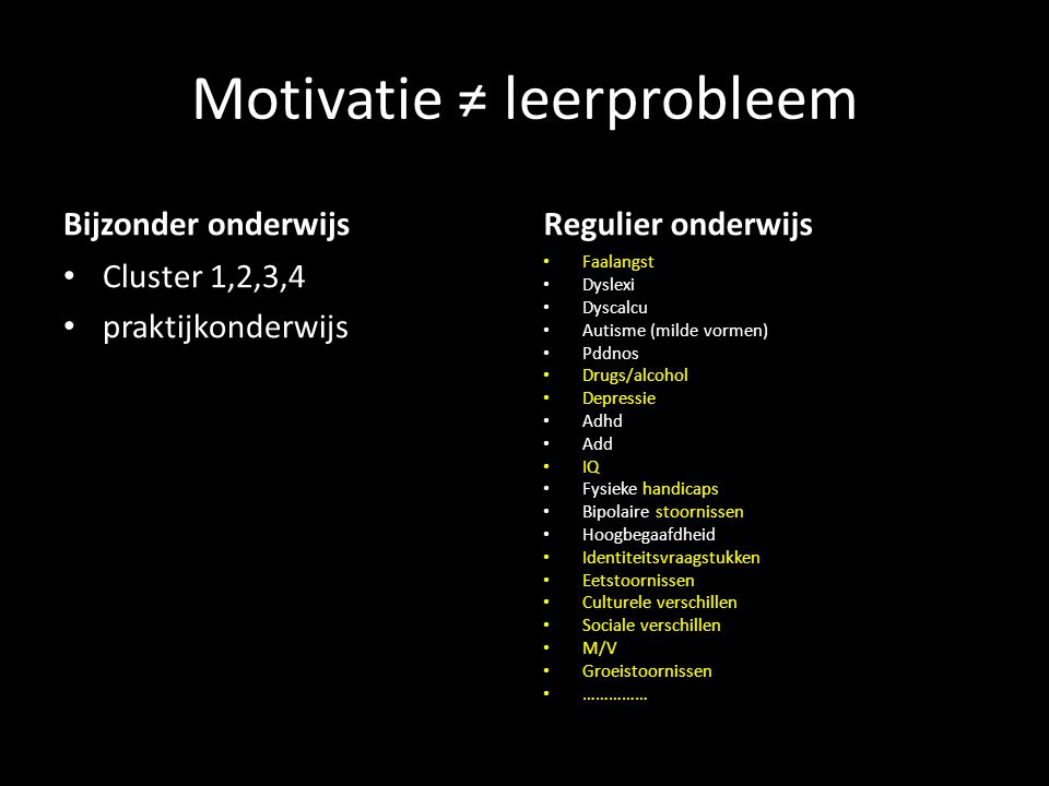 Motivatie ≠ leerprobleem