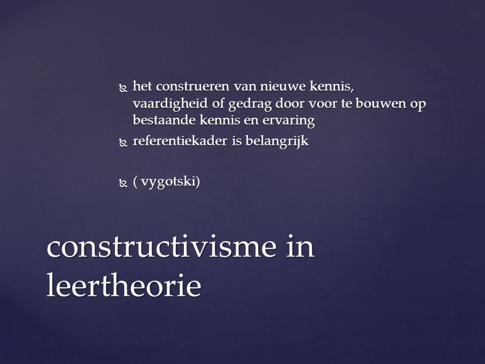 constructivisme in leertheorie