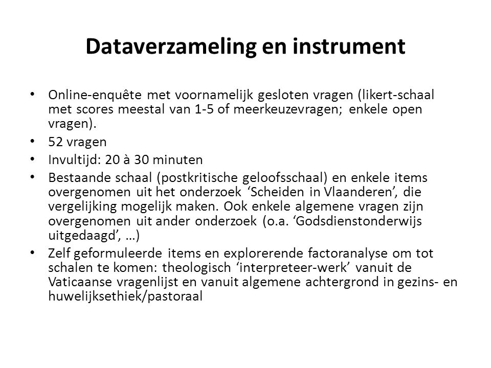 Dataverzameling en instrument