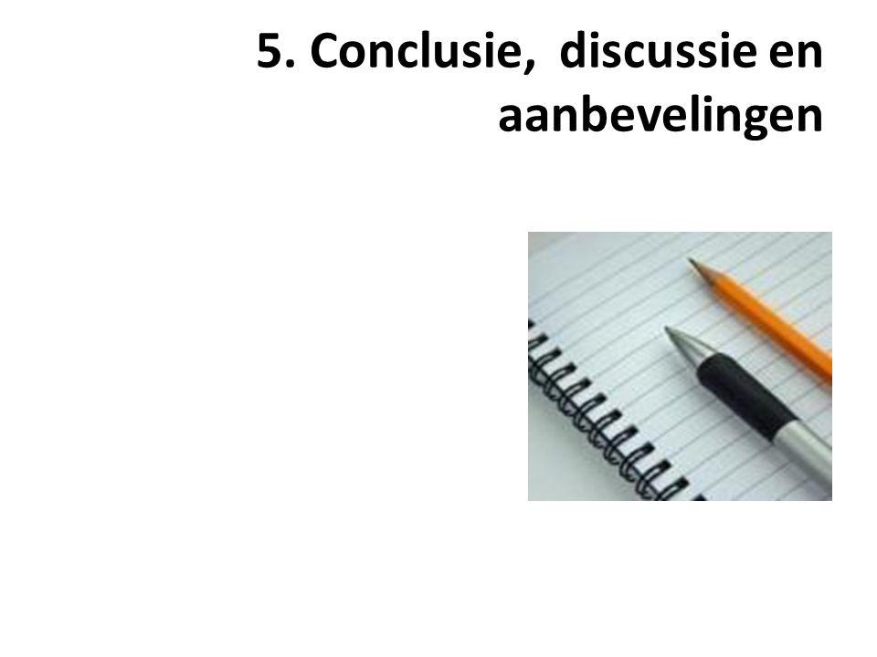 5. Conclusie, discussie en aanbevelingen